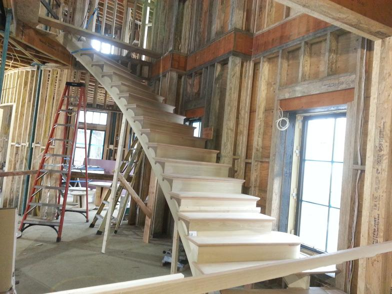 Custom stair building company for Pre built stairs interior